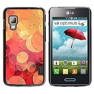 Be Good Phone Accessory // Dura Cáscara cubierta Protectora Caso Carcasa Funda de Protección para LG Optimus L5 II Dual E455 E460 // Retro Red Bokeh