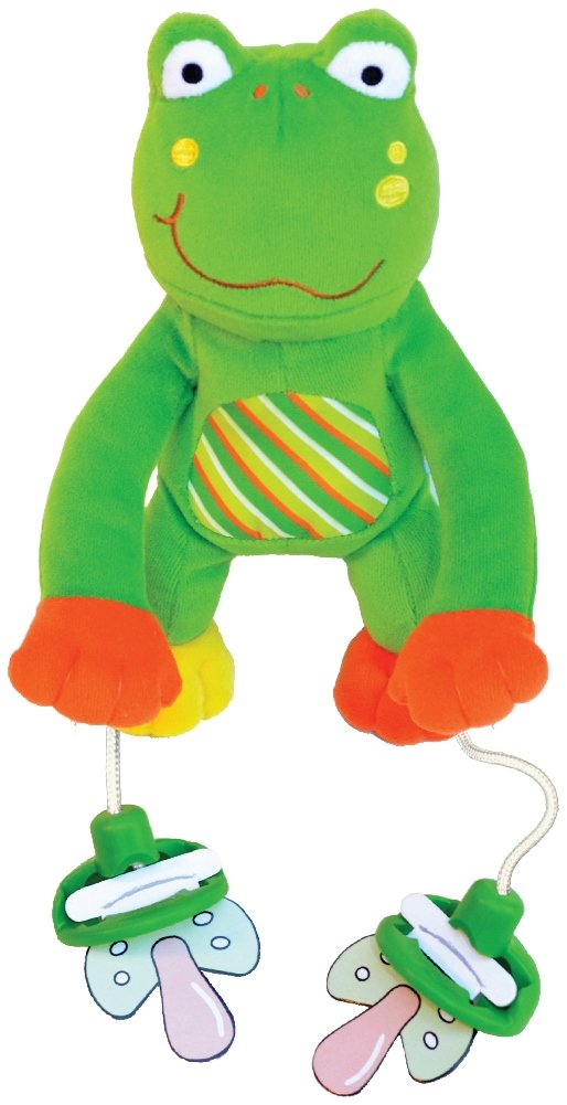 "The Original PullyPalz Pacifier Holder ""As Seen on Shark Tank!"" Puddles the Frog"