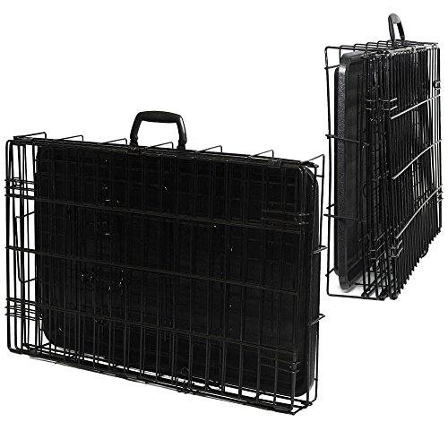 42'' Dog Crate 2 Door w/Divide w/Tray Fold Metal Pet Cage Kennel House for Animal by BestPet (Image #6)