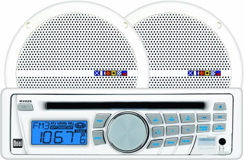 Dual MXCP25 In Dash Marine AM FM CD Receiver and Speaker Combo Pack