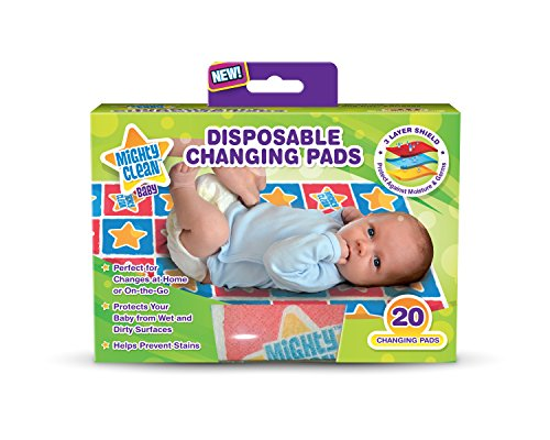 Mighty Clean Baby Disposable Changing Pad - 20 ct from Mighty Clean