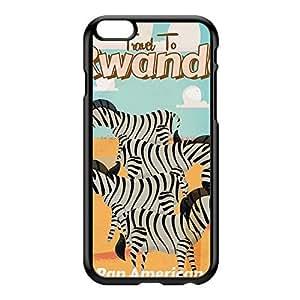 Rwanda Black Hard Plastic Case for iPhone 6 Plus by Nick Greenaway + FREE Crystal Clear Screen Protector