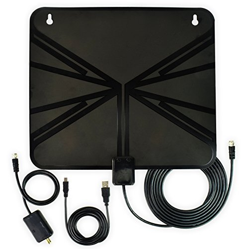 DIGITNOW HDTV Antenna, Indoor Amplified HDTV Antenna 50 Mile Range with Detachable Amplifier Signal Booster and 10ft High Performance Coax Cable for Free TV Program