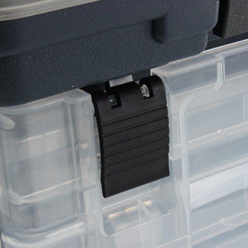 凝縮する楽しむ存在zanlure 4- layer fishing tackle box lures storage tray bait