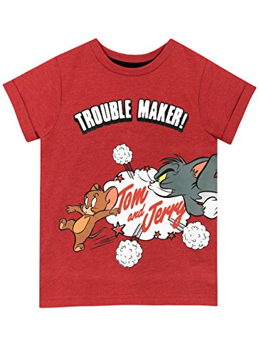 - Tom and Jerry Boys' Cartoon T-Shirt Size 5