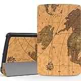 "MoKo LG G Pad F 8.0 / G Pad II 8.0 Case, Ultra Slim Lightweight Smart-shell Stand Cover [Fit 4G LTE AT&T Model V495 / T-Mobile V496 / US Cellular UK495] & [G Pad 2 8.0 V498] 8"" Tablet, Map H"