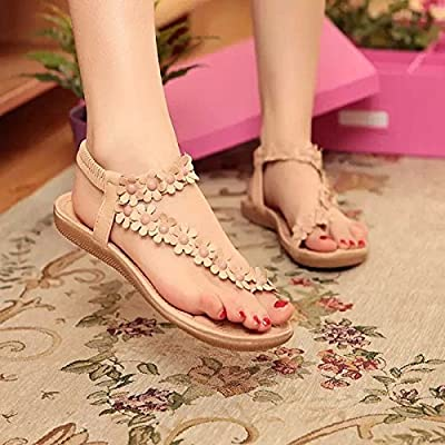 Dony Sandals, sandals, women's shoes, pinch of summer clip toe flowers flat bottom