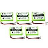 EBL Pack of 5 Rechargeable Ni-MH Cordless Phone Battery for Uniden BT-1001 BT1001 BT-1004 BT1004 BT-909 BT909
