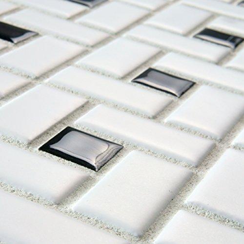 Somertile fkomsp20 retro spiral porcelain floor and wall for 12 x 12 white floor tile