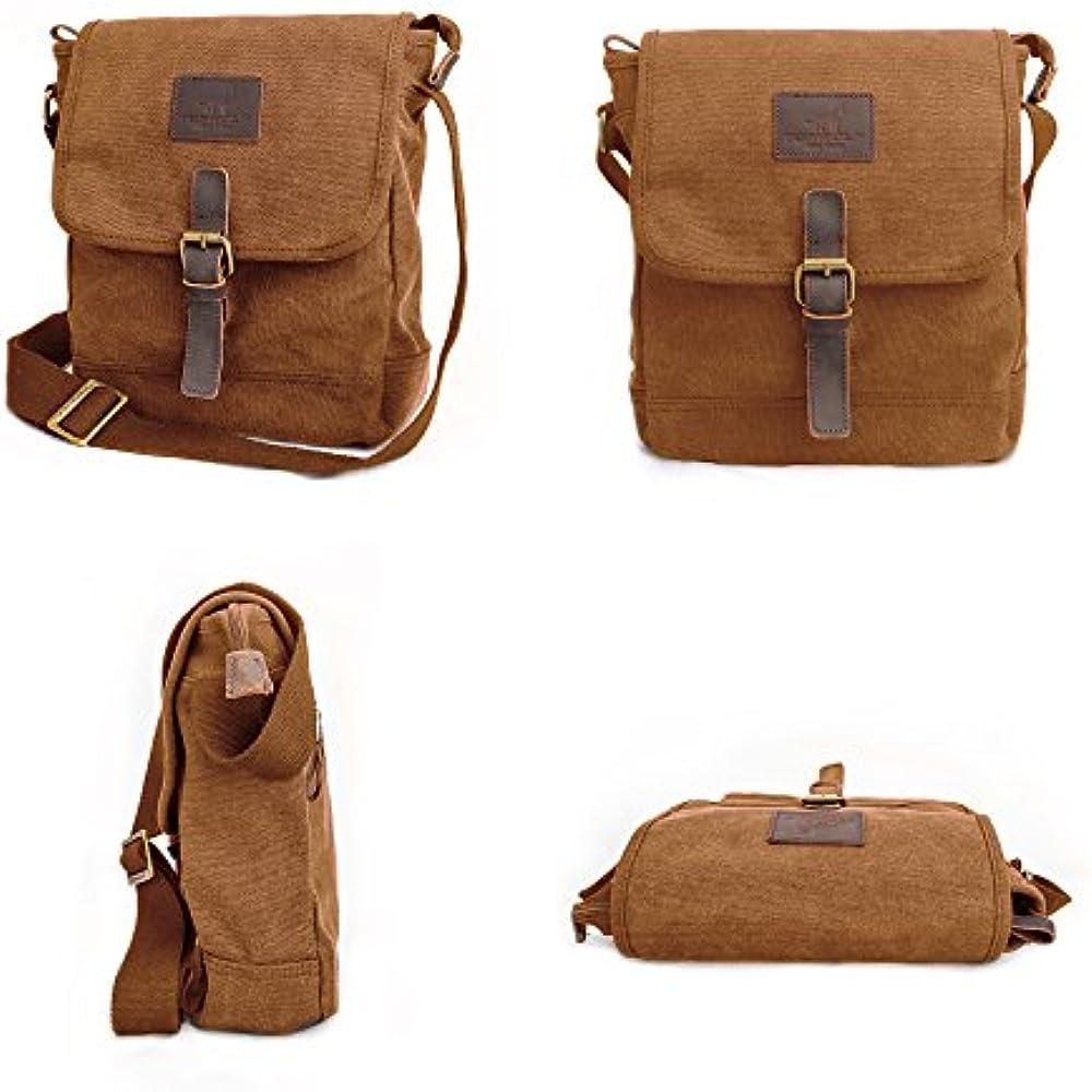 50f84e721c Canvas Messenger Bag TOPWOLF Small Crossbody Bag Casual Travel Working  Tools Bag Shoulder Bag Hold Phone Handset Anti Theft Messenger Bags