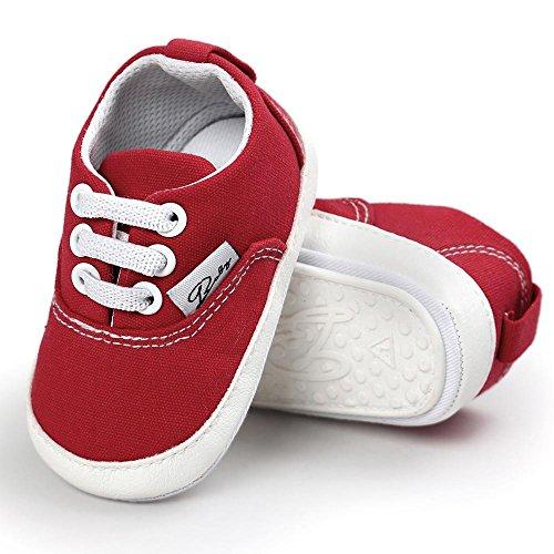 Zapatos de bebé, Switchali zapatos BebéNiña Chicos moda Zapato de lona Recién nacido nino Zapatos casuales Zapatilla Antideslizante Suela blanda barato gran venta Rojo