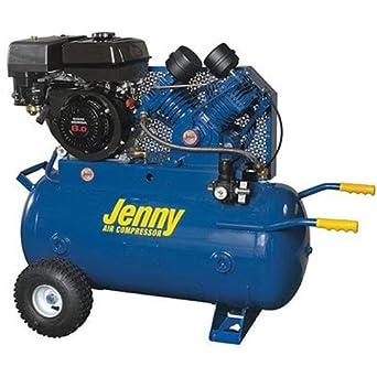 Jenny j11hga-30p sola etapa vehículo de servicio con ruedas portátil Motor de gasolina compresor de aire con bomba de J, 30 Gallon depósito, ...