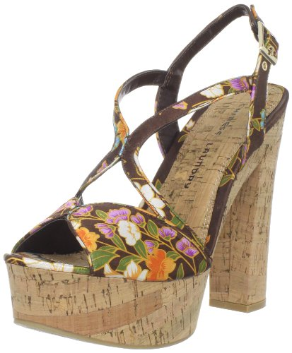 Chinese Laundry Women's Party Time Platform Sandal, Brown Kimono Print, 8.5 M US