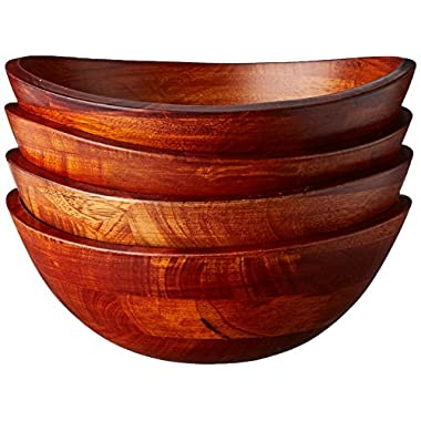 Lipper International Small Cherry Wavy Rim Bowls, Set of 4