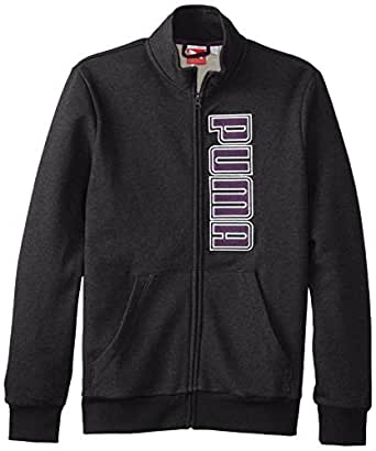 PUMA Men's Track Jacket, Dark Gray Heather-Blackberry, 4X-Large