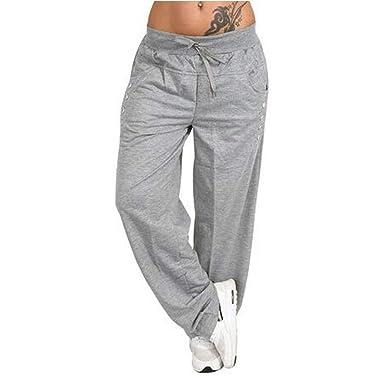 Pantalones Deportivos Mujer Tallas Grandes pantalón de harén con ...