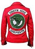 Womens Cheryl Blossom Southside Serpents Riverdale Slim Fit Biker Red Cotton Jacket