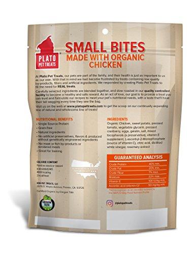 Picture of PLATO Dog Treats -Small Bites Organic Chicken- 10.5 oz (3 Pack)