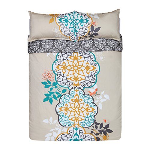Blissliving Home 14171BEDDKNGMUL Shangri La 110-Inch by 96-Inch King Duvet Set, Multi