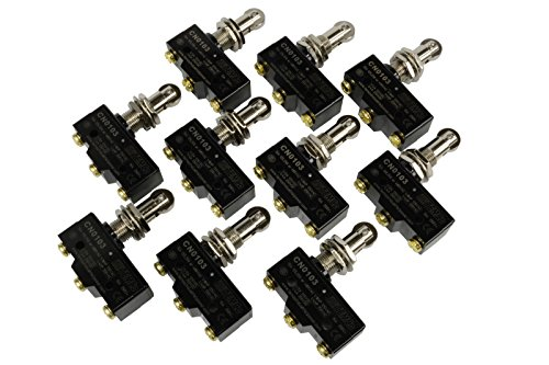 TEMCo 10 LOT HEAVY DUTY 15A Micro Limit Switch Roller Plunger SPDT Snap Action