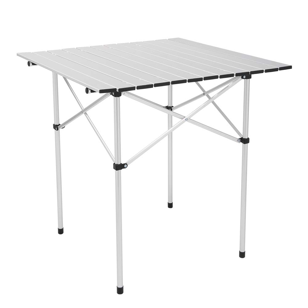 Gharpbik 70 70 70cm Square Camping Table Camp Table Foldable Outdoor Desk