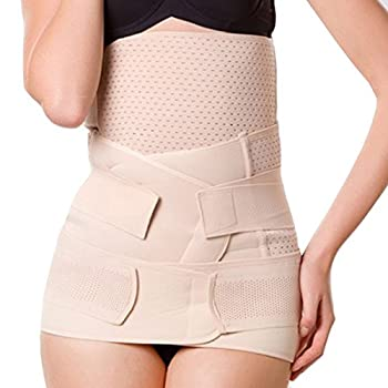 UZZO 3 in 1 Mesh Breathable Postnatal Pregnancy Belt-Support Slimming Postpartum Postnatal Recoery Support Girdle Belt Belly and Waist and Pelvis Body Shaper For Women and Maternity(Medium)