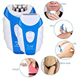 Image of Hair Epilator for Women Man CHAINER 5 in 1 Rechargeable Hair Removal Kit Electric Cordless Lady Shaver Bikini Trimmer Wet and Dry with 5 Extra Heads for Feet and Hair Care