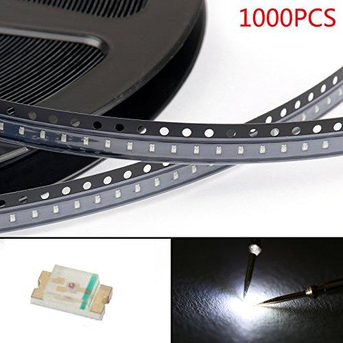 Areyourshop 1000Pcs 0603 (1608) White Light SMD SMT LED Diodes Emitting Super Bright New