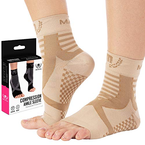 Mava Plantar Fasciitis Socks with Arch Support, Foot Care Compression Sleeve, Eases Swelling & Heel Spurs, Ankle Brace Support, Relieve Pain Fast – Men & Women