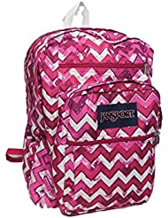 Jansport Big Student Backpack Chevron Pink Zig Zag Stripes