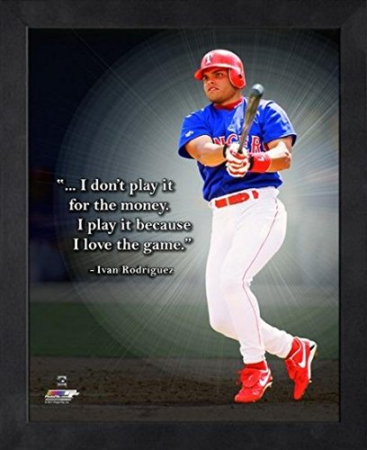 (Ivan Rodriguez Texas Rangers MLB Pro Quotes Photo (Size: 9