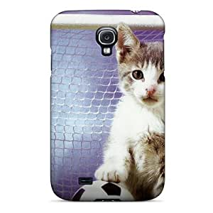 Excellent Design A Kitten Playing Soccer Phone Case For Galaxy S4 Premium Tpu Case