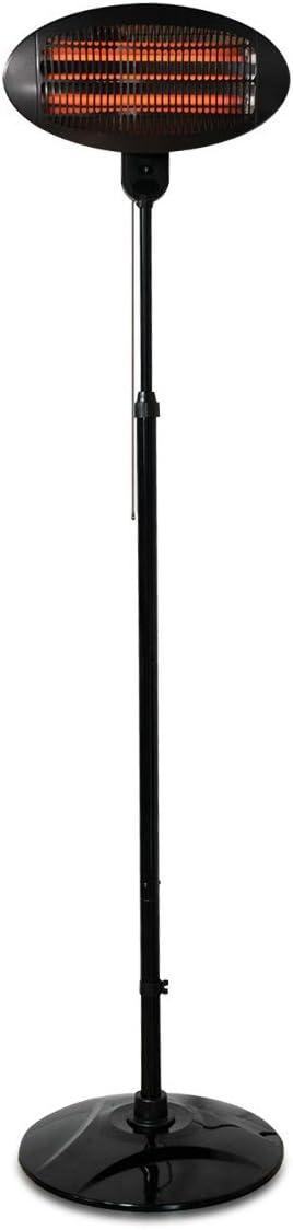 Navaris Estufa eléctrica con Soporte - Calentador de 3 Niveles para Cambiador de bebés - Estufa de Pared automática de Color Negro