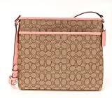 COACH File Bag Crossbody handbag in Outline Signature Khaki Blush F58285