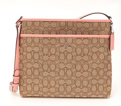 COACH File Bag Crossbody handbag in Outline Signature Khaki Blush - Coach Outlet Mens