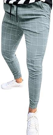 Hombres Pantalon De Chandal Pantalones A Cuadros Rayados Chino Mode Basicos Pantalones Casuales Pantalones Deportivos Pantalones De Carga Ocio De Los Hombres Pantalones De Chandal Corte Clasico Amazon Es Ropa Y Accesorios