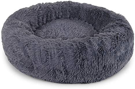 Gris Claro XL Dibea Cama Perros Redonda coj/ín Gatos sof/á para Perros Donut /Ø 70 cm dimensi/ón Exterior