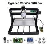 Upgrade CNC 3018 Pro GRBL Control DIY CNC Machine, 3 Axis PCB PVC Milling Engraving Machine,Wood Router Laser Engraving...