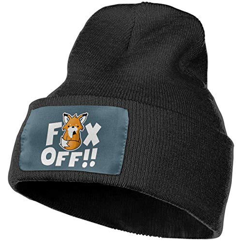 df1a5277c Fox Off Winter Beanie Cap for Women Or Men Soft Warm Watch Hat Black