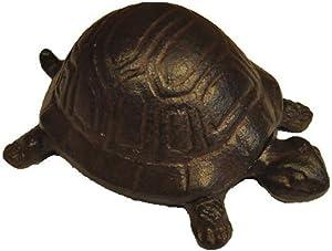 Eforlike 1 Piece Cute Animal Cast Iron Key Holder Key Hider Desk Jewelry Storage Box Garden Ornament(Turtle)