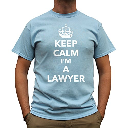 Nutees Mens Keep Calm I'm A Lawyer Profession Law Court T Shirt Light Blue XX-Large