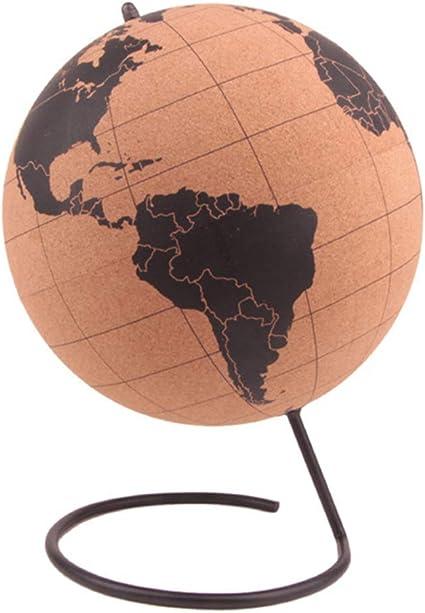 Weltkarte Ø 25 cm Drehbarer XL Kork-Globus mit 15 Pins zum Markieren