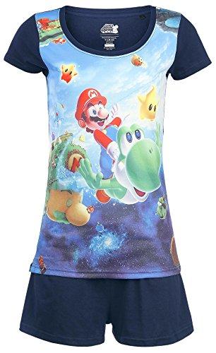 Womens ufficiale Super Mario e Yoshi Shortama pigiama Set - Nintendo adulto