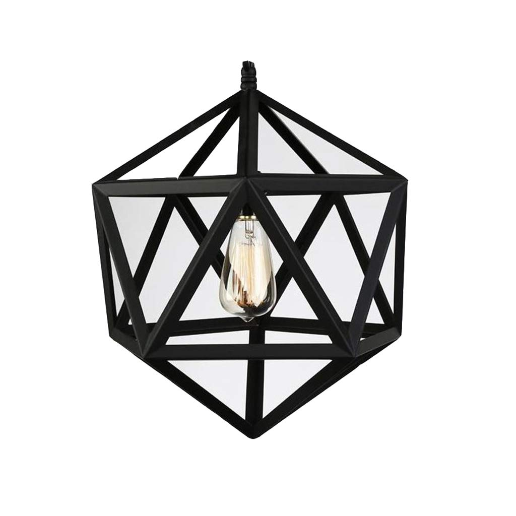 Ceiling Lights Vintage Industrial Style Chandelier American Country Iron Art Multi-Hexahedron Personality Birdcage Chandelier Creative Diamond Chandelier (Size : 3535cm)