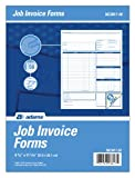 Adams Job Invoice Unit Form, 3 Part, Carbonless, 8.5 x 11.44 Inches, 50 Sets per Pack, White and Canary (NC3817-50)