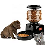 SXJ Automatic Pet Feeder,Programmable Timer Food Station Dispenser Container,for Dog Cat Animal Control Voice Recording(5.5L)