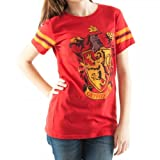 Harry Potter Gryffindor Crest Huniors Tee (Large, Red)