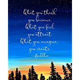 8x10 Art Print Buddha Quote Wall Art Print What You Think You Become Wall Quotes