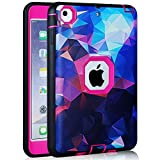 ipad mini 1/2/3 Case, AICOO YCL COLOR FANTASY Rugged Hybrid Three Layer Hard PC + Soft Silicone Shockproof Kids Proof Defender Protective Case Cover for 7.9