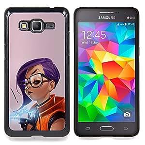 SKCASE Center / Funda Carcasa protectora - Chica púrpura del pelo;;;;;;;; - Samsung Galaxy Grand Prime G530H / DS